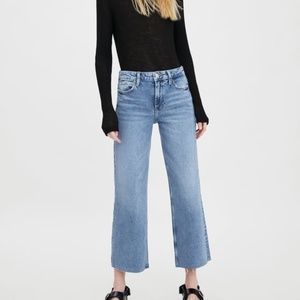 High Rise Wide Legged Jeans Straight Fit